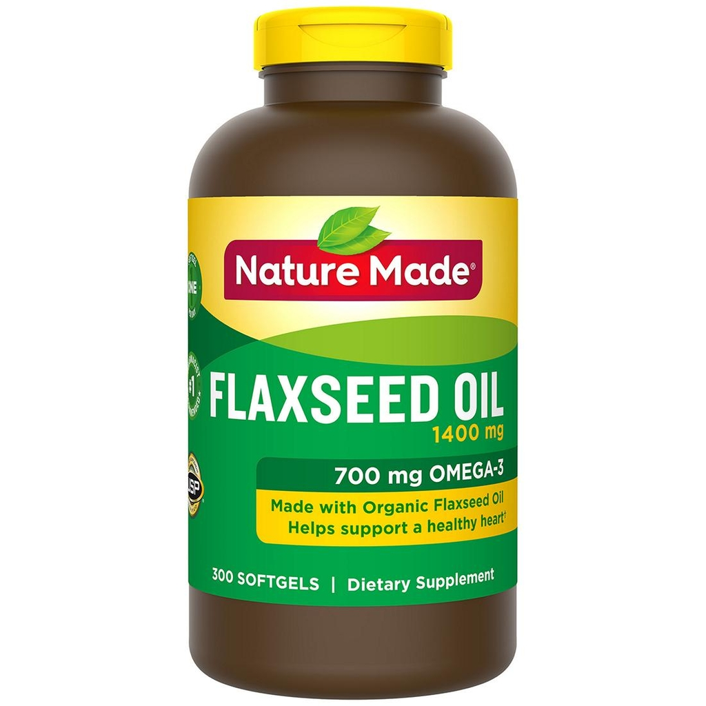 Nature Made Flaxseed Oil 1400mg - Thuốc bổ tim