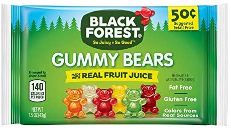 Black Forest Gummy Bear - 1.5 oz Small size