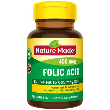Nature Made Folic Acid 400 mcg - 250 viên