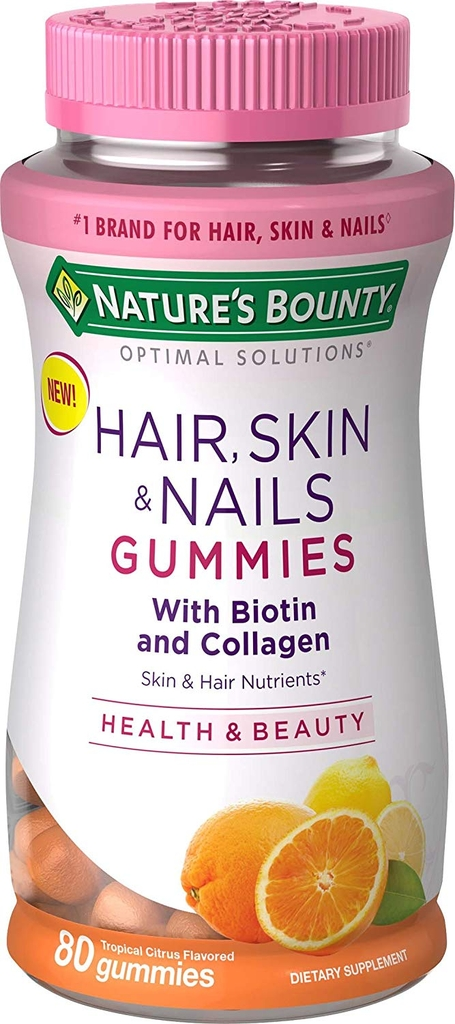 Nature's Bounty Hair, Skin & Nails Gummies (80 ct.) - Biotin tốt cho toc, da, móng tay