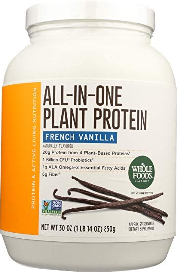 Whole Foods Market, All-In-One Plant Protein, French Vanilla