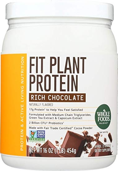 Whole Foods Market, Fit Plant Protein, Rich Chocolate