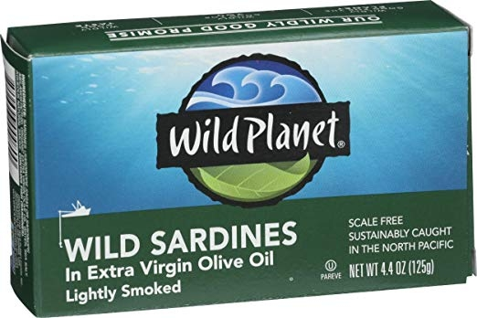 Wild Pacific Sardines in extra virgin olive