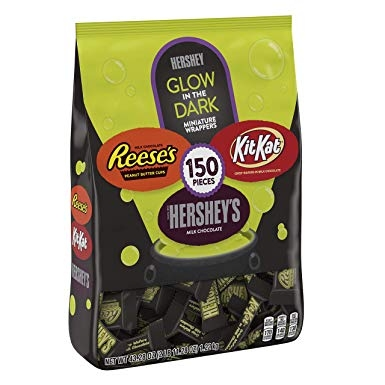 Hershey Glow in Dark miniature chocolate