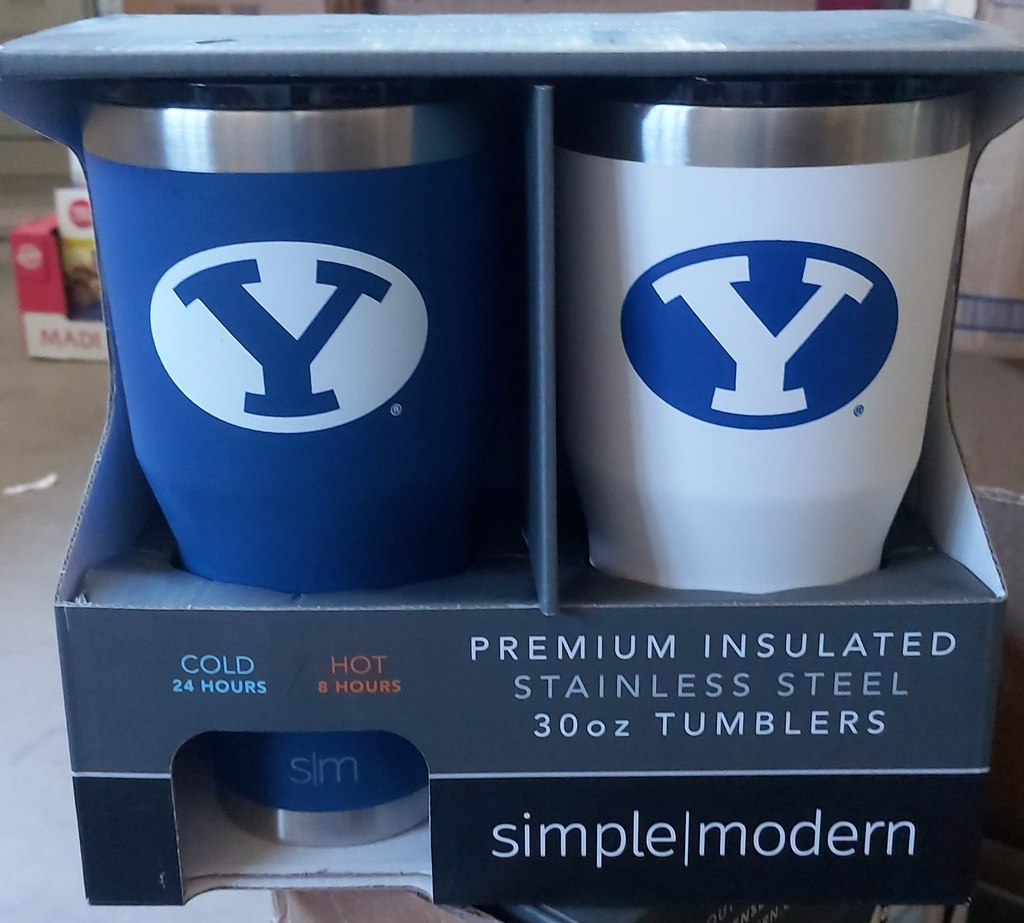 Simple Modern 30ox Tumbler Blue/White
