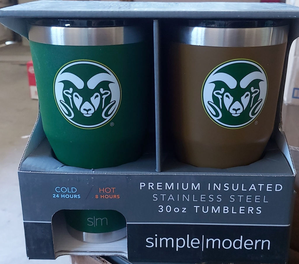 Simple modern 30oz Tumbler Brown/Blue- set 2