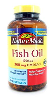 Fish Oil Nature Made 1200mg 200v