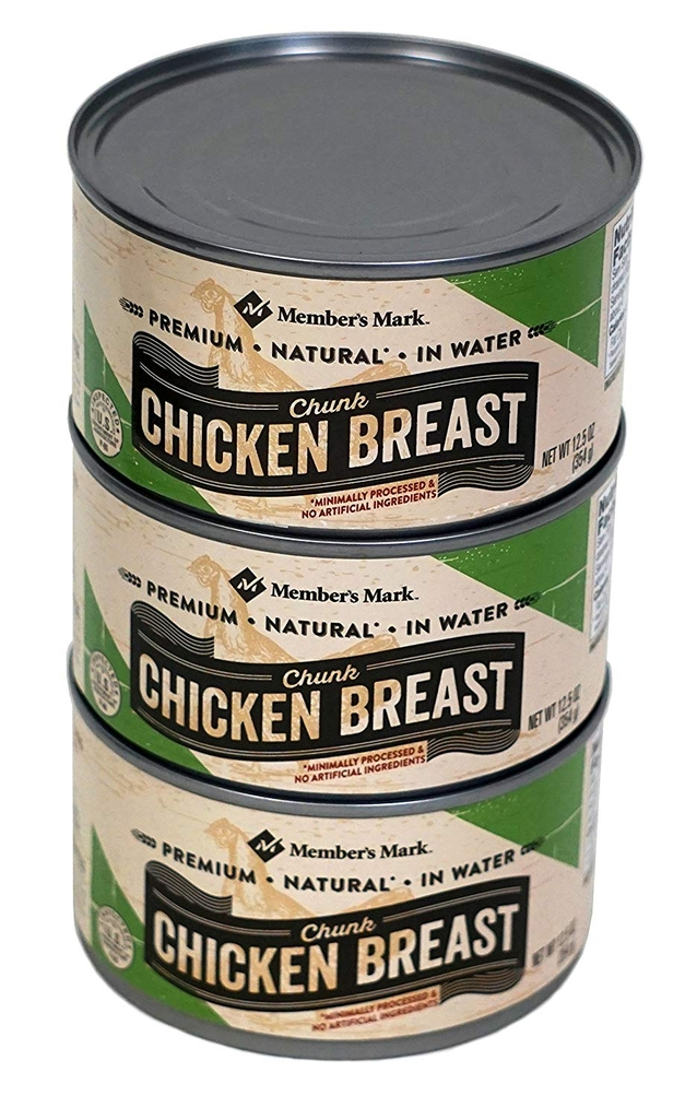Member's Mark Natural Chicken Breast 354g- Thịt gà hộp