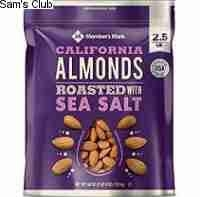 Member's Mark Roasted Almonds with Sea Salt 1.1kg