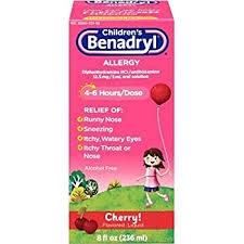 Children's Benadryl Allergy, Cherry Flavor Liquid