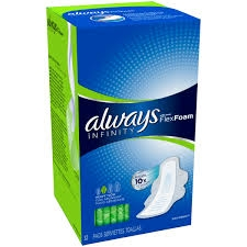 Always Infinity Feminine Pads for Women