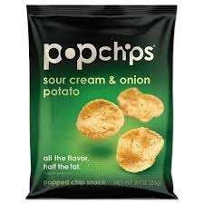 Popchips Potato Chip, Sour Cream
