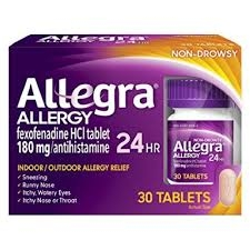 Allegra 24 Hour Allergy Tablets 30 Tablets