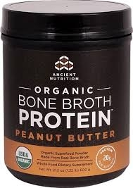 Dr. Axe / Ancient Nutrition, Organic Bone Broth Protein, Peanut Butter, 1.2 lbs