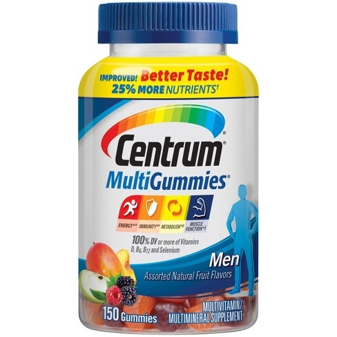 Centrum Multi Vitamin gummy for Men 150ct - Kẹo vitamin tổng hợp dành cho nam