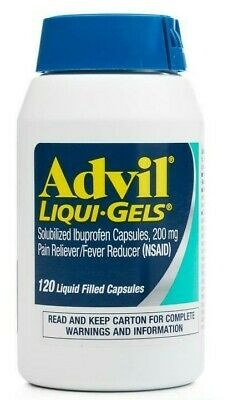 Advil Liqui-Gels Pain Reliever/Fever Reducer Liquid-Filled Capsule, 200mg Ibuprofen