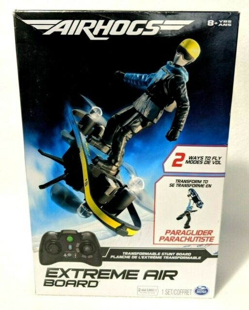 AirHogs EXTREME AIR BOARD Transformable Stunt Board/Paraglilder Trick Flyer RC