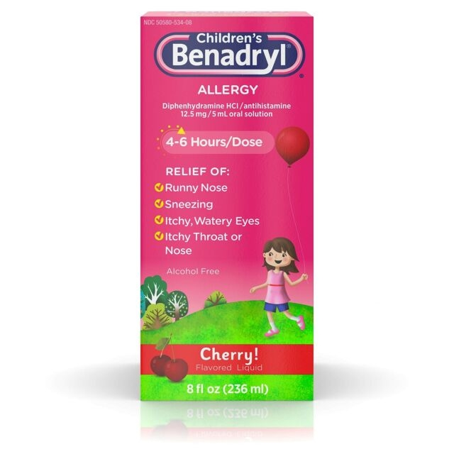 Children's Allergy Liquid Cherry
