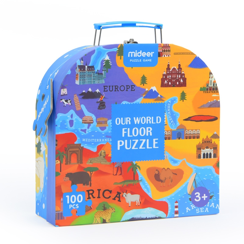 Mideer- Our World Floor Puzzle 100 Chi Tiết