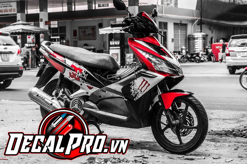 Tem xe Air Blade 2010 Red Monster