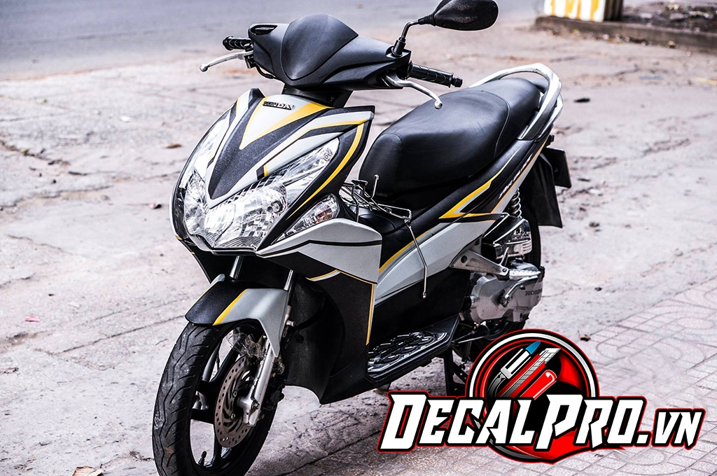 Tem xe Air Blade 2011 Yellow Line