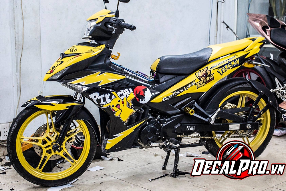 Tem xe Exciter 150 Yellow Pokemon