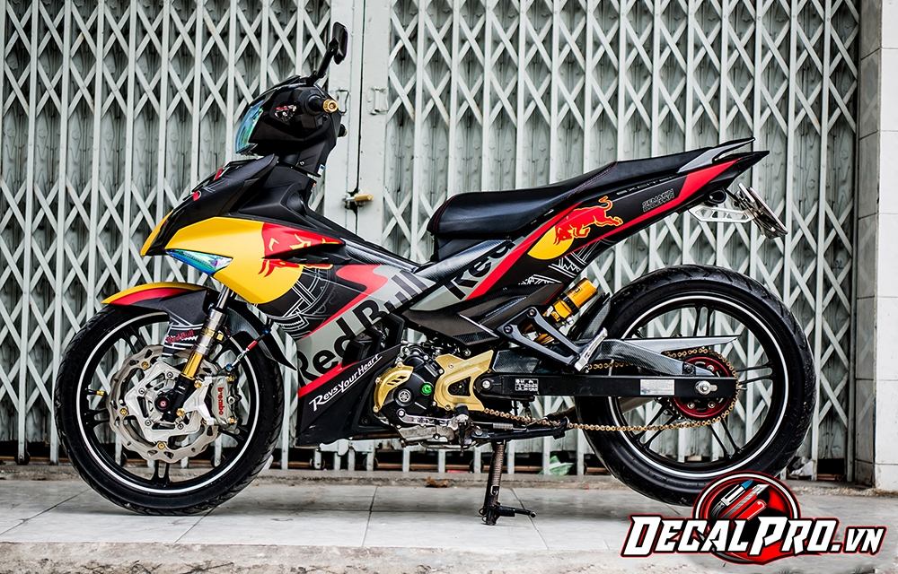 Tem xe Exciter 150 Red Bull Grey Orange