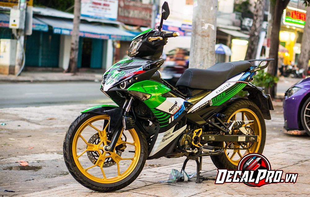 Tem xe Exciter 150 Icon Racing Green
