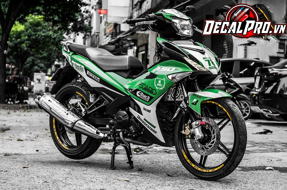 Tem xe Exciter 150 Green Kpax