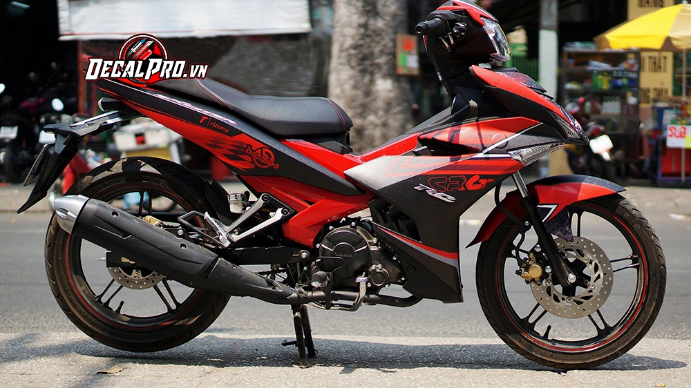 Tem xe Exciter 150 CRG Racing Red