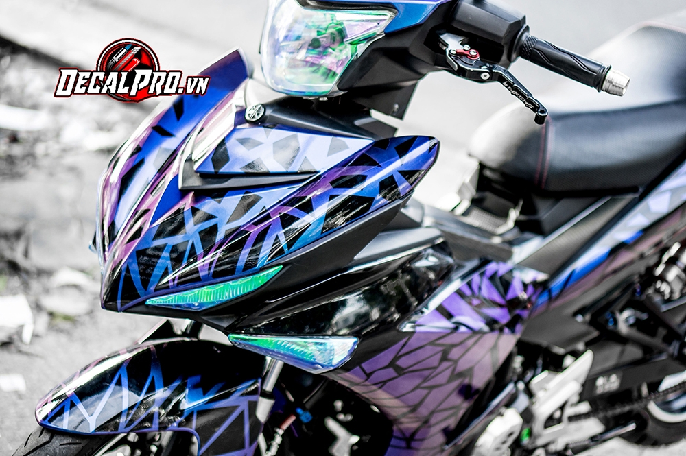 Tem xe Exciter 150 Candy Violet