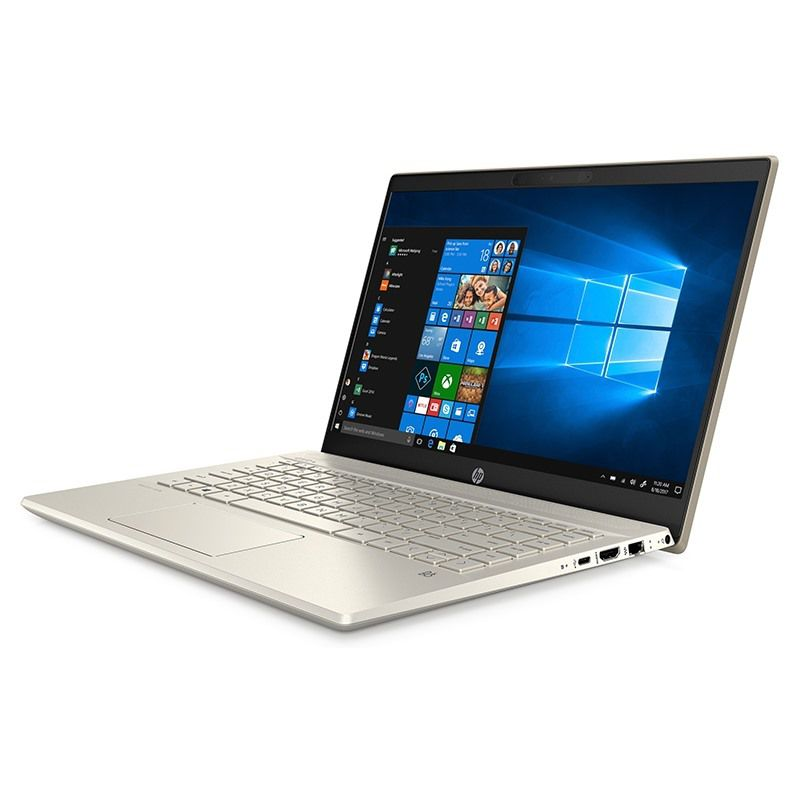 "HP Pavilion 14-ce00xx Gold, card on ( i5-8250U, RAM 4G, SSD NVMe 256G , VGA Intel UHD 620, màn 14"" Full HD IPS, viền siêu mỏng )"
