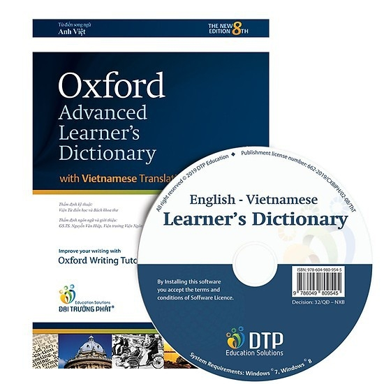Sách - Từ điển Oxford Advanced Learner's Dictionary 8th Edition (Anh - Anh - Việt)