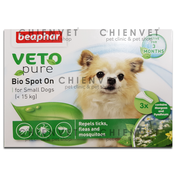 Bio spot on for small dog (<15kg) - Phòng trị ve, bọ chét cho chó nhỏ hơn 15kg