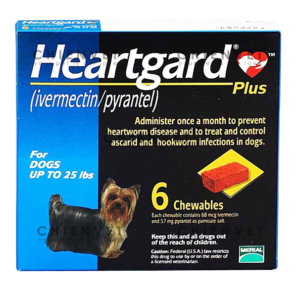 Heartgard plus blue (Dog <11.5kg) - Thuốc phòng giun tim, giun tròn cho chó