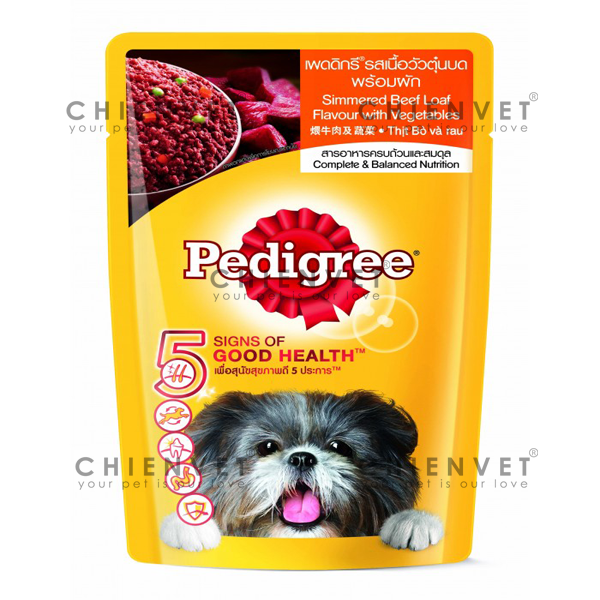 Pedigree simmered beef flavour with vegetables