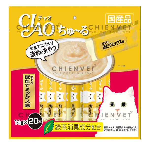SC-129 Ciao chu ru Tuna Scallop Mix 280gr