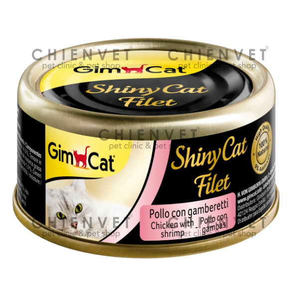 Shiny Cat filet Chicken with Shrimp 70g