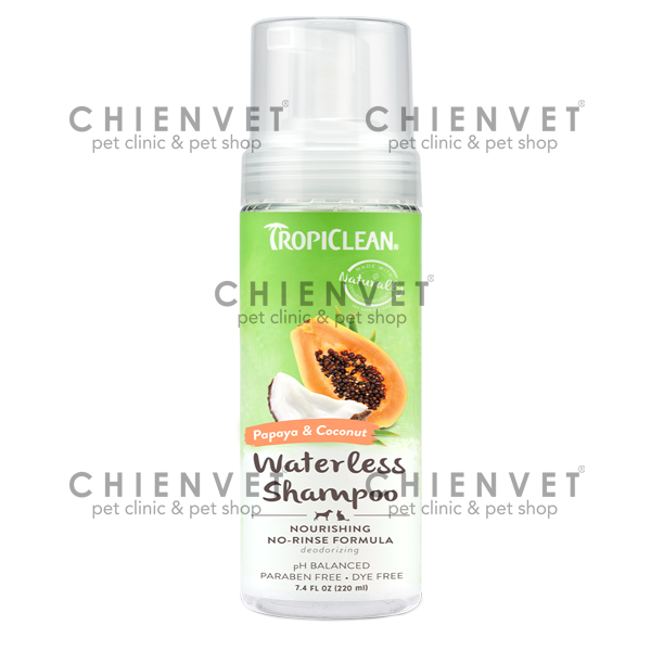 Tropiclean waterless shampoo 220ml