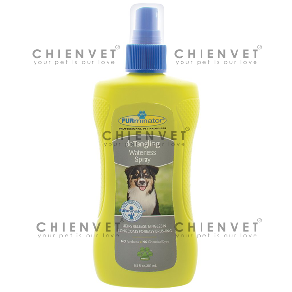 Furminator Detangling waterless Spray 251ml - Xịt gỡ rối lông