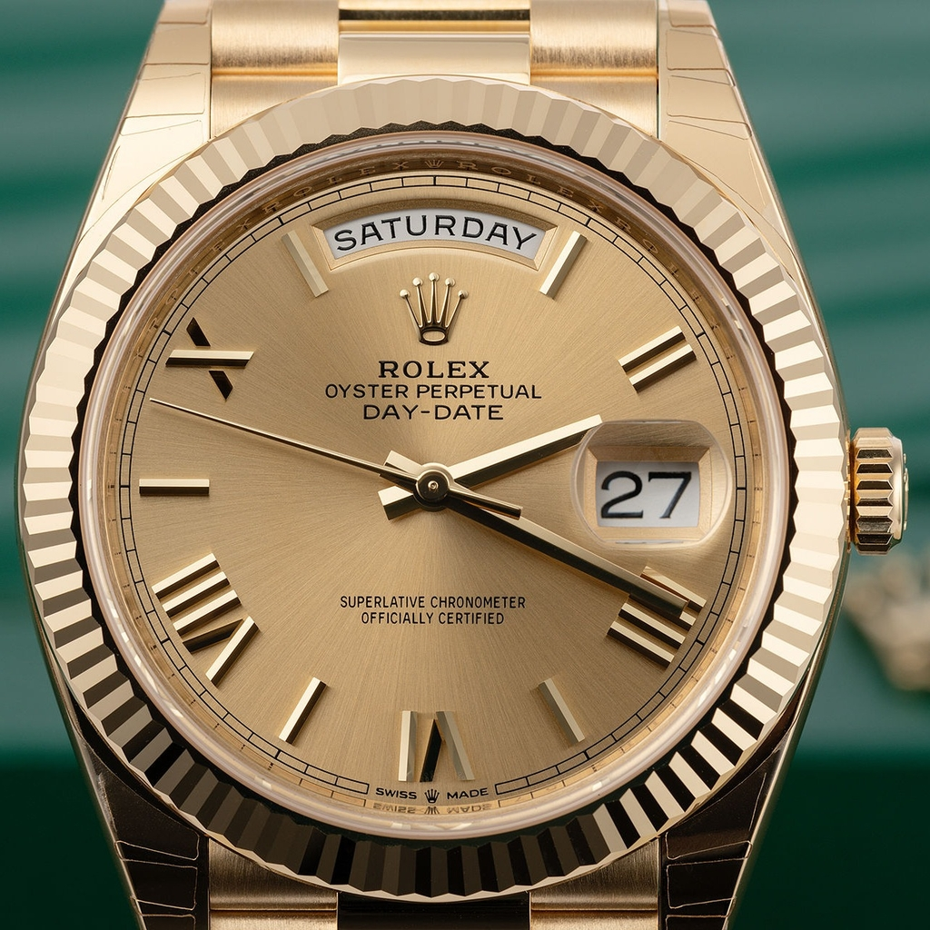 Rolex Day-Date 40mm Yellow Gold Champagne