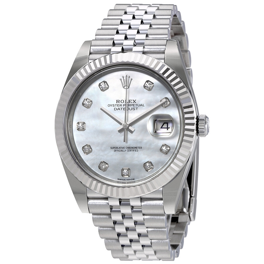 Đồng Hồ Rolex Date Just Oyster Perpetual 41 MOP - 126334