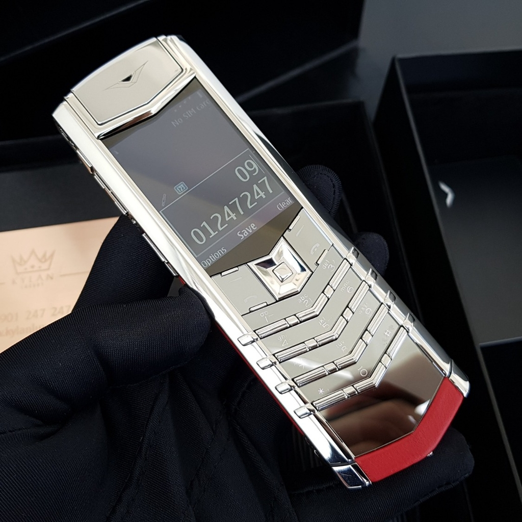 Vertu Signature S Steel Silver Red