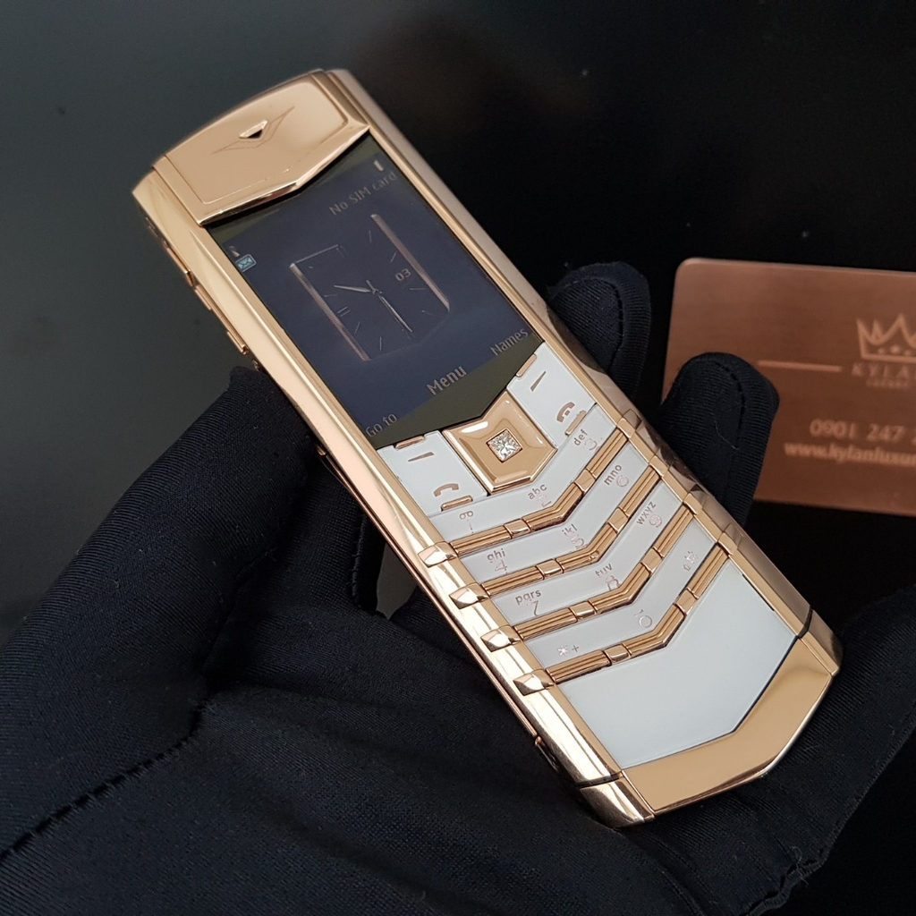 Vertu Signature S White Full Gold Mix Diamond
