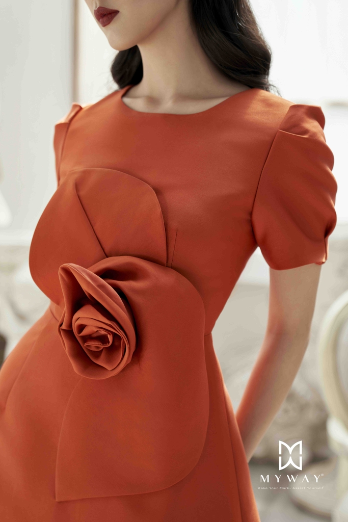 ORANGECHAINS DRESS
