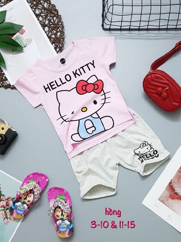 BT Hello Kitty nhí (hồng/3-10)