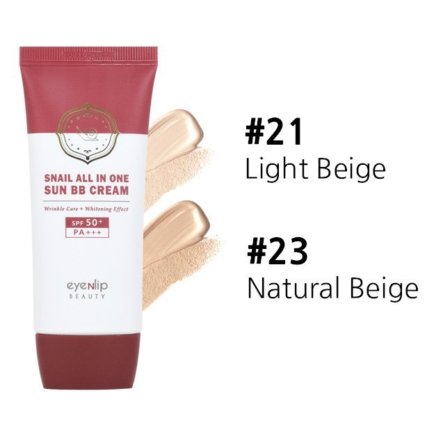 KEM NỀN EYENLIP Snail All In One Sun BB Cream #21 Light Beige