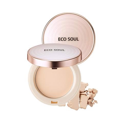 Phấn phủ The SAEM Eco Soul Perfect Cover Pact 21 Light Beige