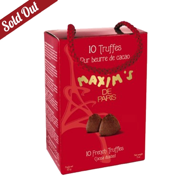 GIFT CARDBOX 10 FRENCH TRUFFLES, PURE COCOA BUTTER