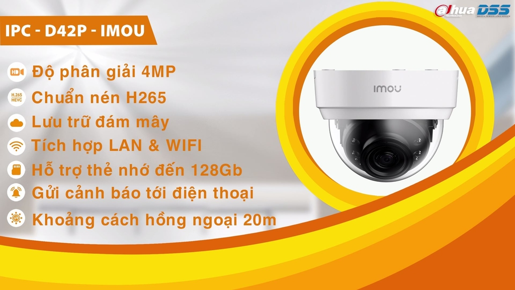 Camera WiFi QHD - Dome Lite (D42P)